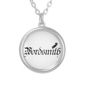 Wordsmith Round Pendant Necklace