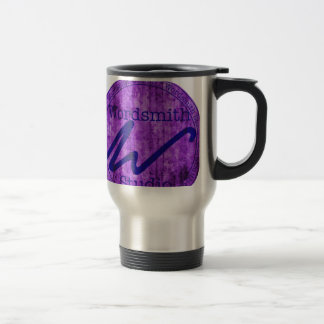 Wordsmith Studio Purlple/Navy 15 Oz Stainless Steel Travel Mug