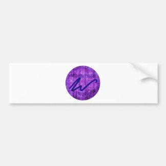 Wordsmith Studio Purlple/Navy Car Bumper Sticker
