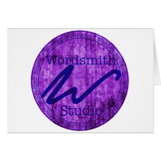 Wordsmith Studio Purlple/Navy Card