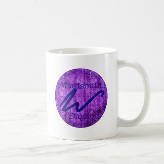 Wordsmith Studio Purlple/Navy Classic White Coffee Mug