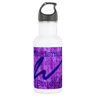 Wordsmith Studio Purlple/Navy Water Bottle