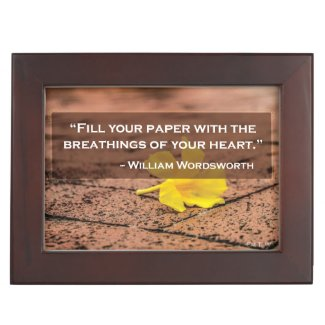 Wordsworth Quote Keepsake Box