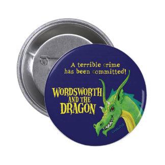 Wordsworth y el botón redondo del dragón pin