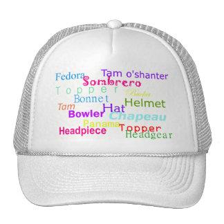 Wordy Head Mesh Hats