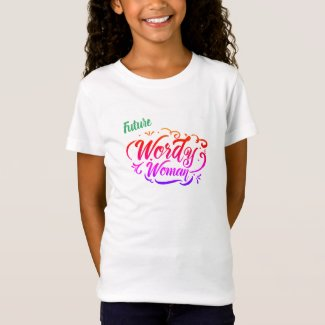Wordy Woman Future Kids T-Shirt
