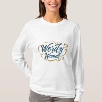 Wordy Woman Long Sleeve (color) T-Shirt