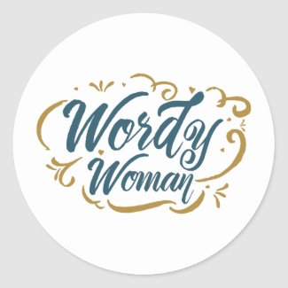 Wordy Woman Sticker