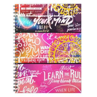 Wordy Word Words Spiral Notebook