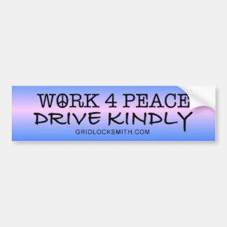WORK4PEACE-DK PEGATINA DE PARACHOQUE