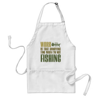Work And Fishing Adult Apron