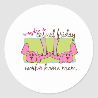 Work at Home Mom Classic Round Sticker