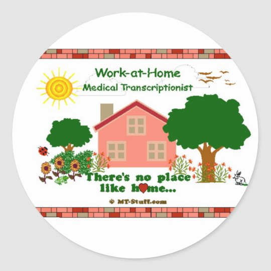 Work-at-Home MT Classic Round Sticker