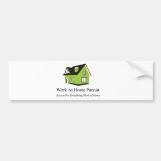 Work At Home Pursuit Merchandise Bumper Sticker