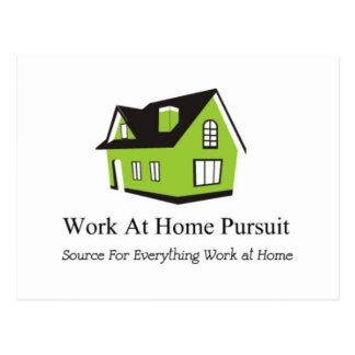 Work At Home Pursuit Merchandise Postcard