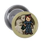 work badge. pinback button