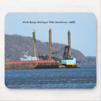 Work Barge Michigan With Manitowoc 4600 Mouse Pad