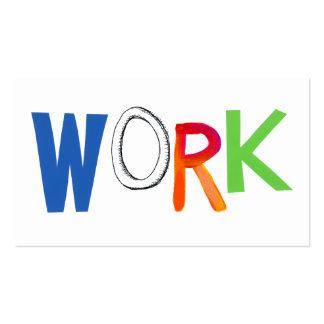 Work business employment job worker art words business card
