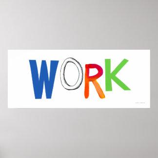Work business employment job worker art words poster