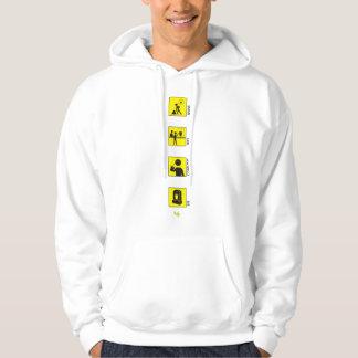 Work Buy Consume Die Hooded Pullover