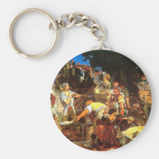 Work by Ford Madox Brown Keychain