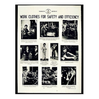 Work Clothes For Safety And Efficiency Postcard