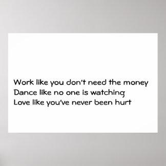 Work Dance Love Poster