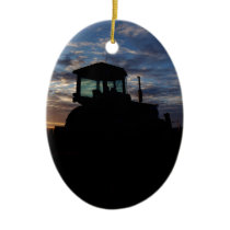 Work Day is Done on the Farm Ceramic Ornament