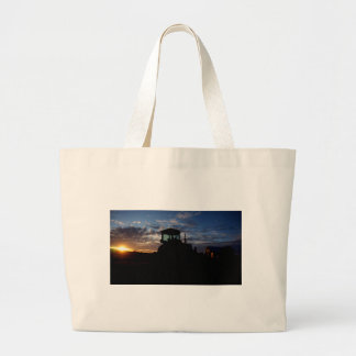Work Day is Done on the Farm Large Tote Bag