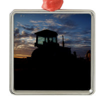 Work Day is Done on the Farm Metal Ornament