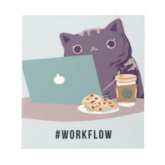 Work Flow Basic Cat Notepads