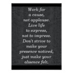 Work for a cause -- art print