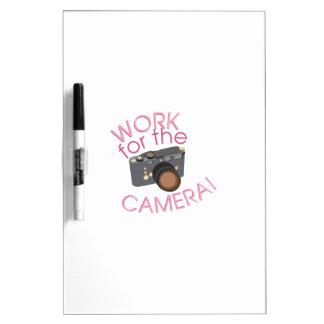 Work For Camera Dry-Erase Whiteboard