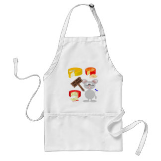 Work For Cheese Adult Apron