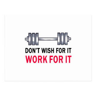 WORK FOR IT POSTCARD