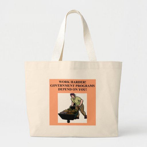 work for the government canvas bags