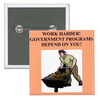 work for the government pinback buttons