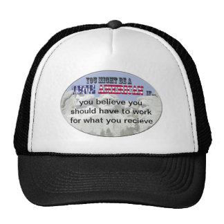 work for what you recieve trucker hat