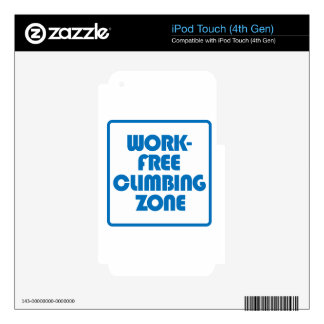 Work Free Climbing Zone Skin For iPod Touch 4G
