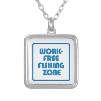 Work Free Fishing Zone Silver Plated Necklace