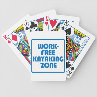 Work Free Kayaking Zone Bicycle Playing Cards