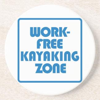 Work Free Kayaking Zone Sandstone Coaster