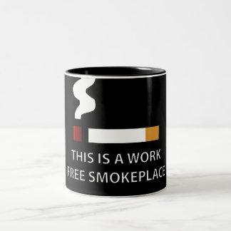 Work Free Smokeplace Two-Tone Coffee Mug