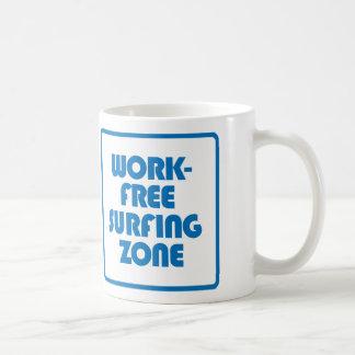 Work Free Surfing Zone Coffee Mug