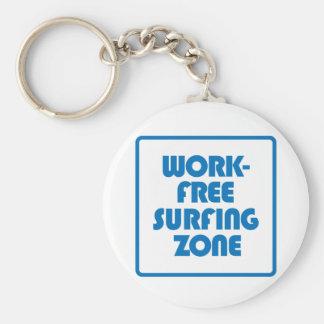 Work Free Surfing Zone Keychain