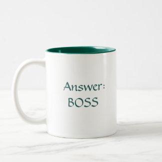 Work Fun Two-Tone Coffee Mug