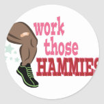 Work Hammies Classic Round Sticker