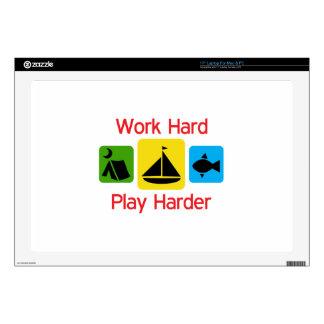 """Work Hard 17"""" Laptop Skin"""