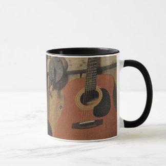 Work hard and play guitar mug