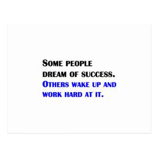 Work Hard At Success Postcard
